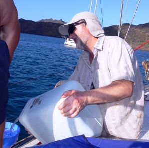 ocean sailing tips, water stowage